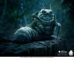Alice - Initial Caterpillar by michaelkutsche