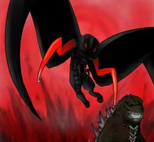 Godzilla vs. Winged Muto Revisited by GeneralisimoJenny