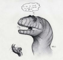 The Allosaurus Loves Cheese by RobtheDoodler