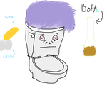 A stupid drawing of a toilet I forgot why we made by OldDrunkBastard