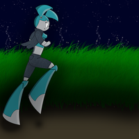 running through the night, in search of crime by Alex2072