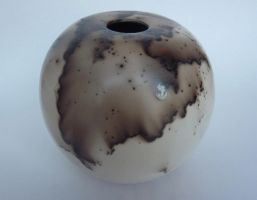Naked raku horsehair globe 2 by lifegreek