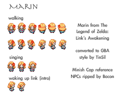 Marin GBA Sprite Sheet by TinSil