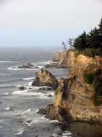 Cape Arago - Sunset Bay, Oregon by andromeda