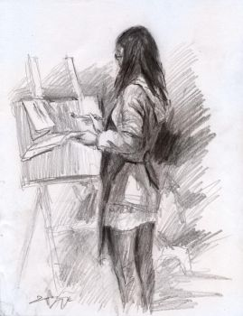 Life Sketching - Classmate by JerryCai
