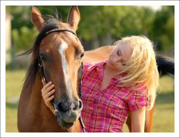 Girl and Horse 1 by Boas73