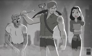 Paper WALKING DEAD by EadgeArt