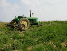 Tractor next to Cornfield 3 by FairieGoodMother