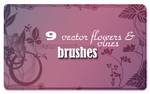 Vector Flowers_vines Brushes by spiritcoda