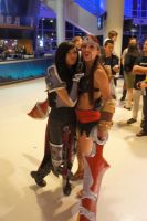 When female Darius meets female Draven by linnieepoo