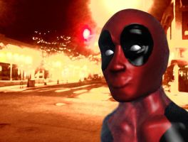 Deadpool on the town by CommonRabbit