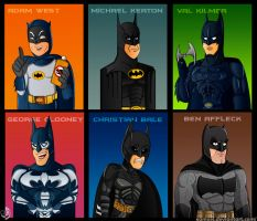 The Many Faces Of Batman by XAMOEL