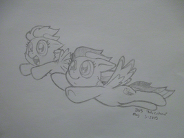 Fly, Scootaloo! - Commission by LateCustomer