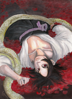 Sasuke with snake by Sweet-Kuskus