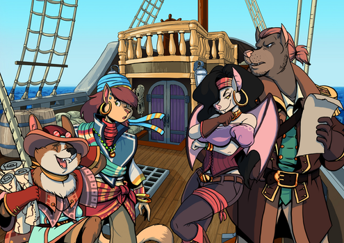 Pirate's Fate Update: New and Improved Background by volkenfox
