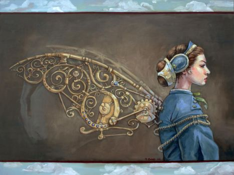On steampunk wings by lachwen