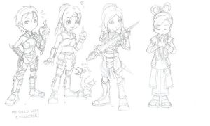 Guild wars characters part 2 by Spartan112