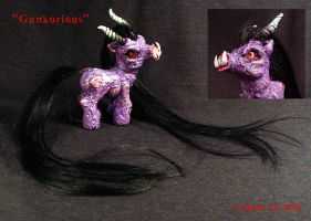 My Little Demon Pony Gank Ooak by Undead-Art