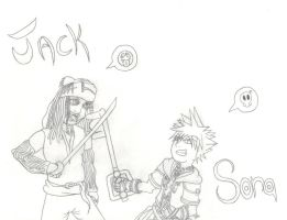 Jack and Sora by somechick73