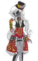 TRADITIONAL: Steampunk Nightmare Ally by InvaderIka