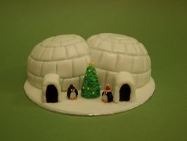 Mini Igloo Cake by sparks1992