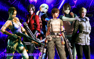 The Heroines of Resident Evil by LegendaryDragon90