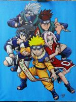 Naruto: Original 5 by The-Dreaming-Dragon