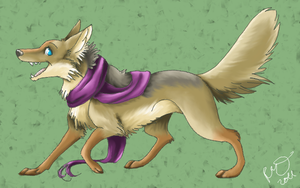 scarf coyote by blackmustang13