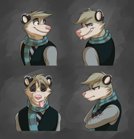 Commission: Diego's Expression Sheet by Temiree
