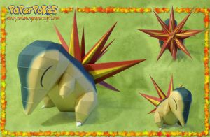 Cyndaquil Papercraft by Lyrin-83