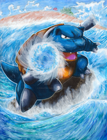 Blastoise Used Hydro Pump by matsuyama-takeshi