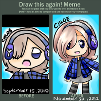 Meme: Draw This again :2010 : 2012: by Azurane