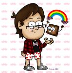 Markiplier and Tiny Box Tim by sibbies