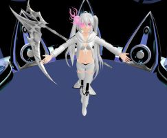 (MMD) White Rock Shooter by Mysticinthedark4321