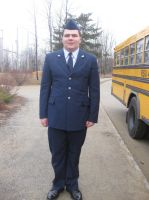 Me in my JROTC Air Force Uniform by Screamingmaddog5521