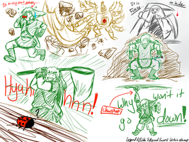LoZ: Skyward Sword Sketches -SPOILERS- by LightDarkSoul