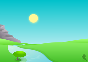 Simple vector landscape by Lizandre