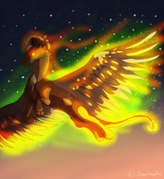 Wings On Fire!! wait what AHHHHHH ITS BURNING HELP by iiDragonfantasyArt