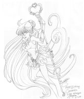 Sailor Pluto: Bday Gift by PinkPigtails