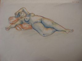 Life drawing, arm over head by Niina-Bean