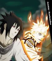 Smiling - Naruto And Sasuke (Collab) by Aosak24