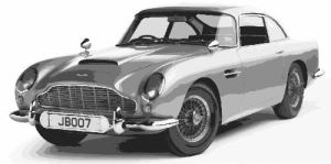 Aston Martin DB5 James Bond Paint By Number Kit by numberedart