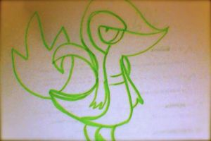 Le 30 second drawing with green marker #1 by Ha3uhi