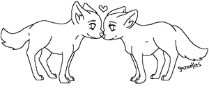 "FREE ""Puppy Love"" Lineart by Gazzelles"