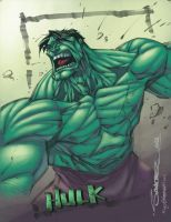 Sanchez's Hulk Colored by ginmau