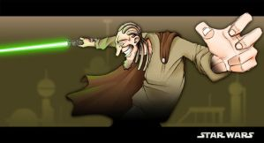 My Jedi Master by napka