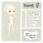 [P2U] Character Ref Template + Base by fawntrash