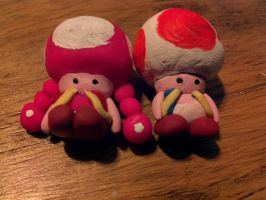 Toad and Toadette by strangmusicobsession