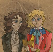Talking to Myself (Eighth Doctor) (Sixth Doctor) by SmudgeThistle