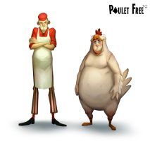 Poulet Free - Characters by Grimhel